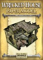 Wrecked House Paper Model