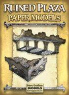 Ruined Plaza Paper Models Set