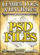 Lumber, Logs & Hay Bales PSD Files