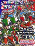 Napoleon's Hussars. 4th,5th,6th,7th & 9th regiments + pretend historic 1st & 2nd Google Hussars ++ regiments