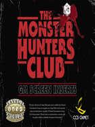 Monster Hunters Club GM Screen Inserts