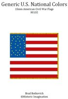 Generic U.S. National Colors American Civil War 15mm Flag Sheet