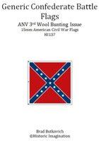 Generic Confederate ANV 3rd Wool Bunting Issue American Civil War 15mm Flag Sheet