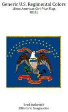 Generic U.S. Regimental Colors American Civil War 15mm Flag Sheet