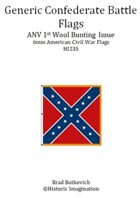 Generic Confederate ANV 1st Wool Bunting Issue American Civil War 6mm Flag Sheet