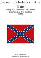 Generic Confederate Army of Tennessee 1864 Issue American Civil War 6mm Flag Sheet