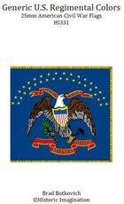 Generic U. S. Regimental Colors American Civil War 25mm Flag Sheet