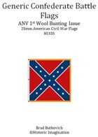 Generic Confederate ANV 1st Wool Bunting Issue American Civil War 25mm Flag Sheet