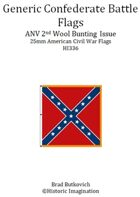 Generic Confederate ANV 2nd Wool Bunting Issue American Civil War 25mm Flag Sheet