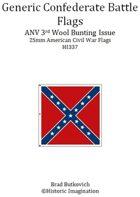 Generic Confederate ANV 3rd Wool Bunting Issue American Civil War 25mm Flag Sheet