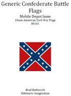 Generic Confederate Mobile Depot Pattern American Civil War 15mm Flag Sheet