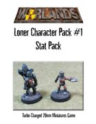 Warlands Loner Character Pack #1 Stat Pack