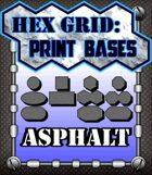 Hex Grid: Print Bases- Asphalt