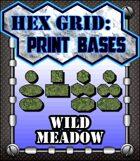 Hex Grid: Print Bases- Wild Meadow