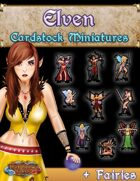 Cardstock Miniature Set #1 - Elven/Fairies