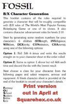 FOSSIL B/X Character Generation