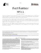 Fast Fantasy: NPCs 1