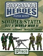 Disposable Heroes Soldier Statix 1: WWII