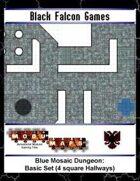 Blue Mosaic Dungeon: Basic Set (4 square Hallways)