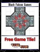 Blue Mosaic Dungeon: Basic Set (2 square Hallways) - Free-4-All Tile