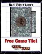 Blue Mosaic Dungeon: Doors and Stairs (4 square Hallways) - Free-4-All Tile