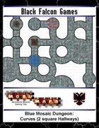Blue Mosaic Dungeon: Curves (2 square Hallways)