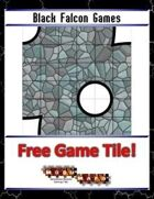 Blue Mosaic Dungeon: Curves (4 square Hallways) - Free-4-All Tile