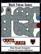 Blue Mosaic Dungeon: Curves (4 square Hallways)