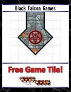 Blue Mosaic Dungeon: Angles (2 square Hallways) - Free-4-All Tile