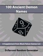 D-Percent - 100 Ancient Demon Names
