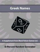 D-Percent - Greek Names