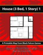 Modern Floor Plans - House (3Bed, 1 Story) 1