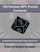D-Percent - 100 Fantasy NPC Pocket Contents