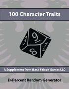 D-Percent - 100 Character Traits