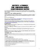 Crypts and Things, The Midderlands, Conversion Guide