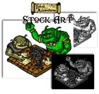 Inked Adventures Stock Art  Trolls playing an RPG