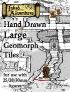 Inked Adventures Hand Drawn Large Geomorph Tiles (25/28/30mm scale)