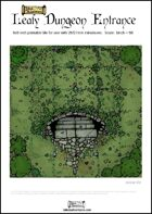Leafy Dungeon Entrance 6x6 Printable Tile