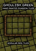Ghoulish Green Hand Painted Dungeon Tiles