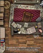 Art Pack 4: Books and Documents for Dundjinni, Fractal Mapper or CC3