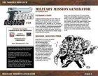 Modern Dispatch (#79): Military Mission Generator