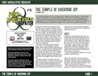 Post-Apocalyptic Dispatch (#16): The Temple of Unending Joy