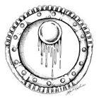 Stock Art Shields: Blood Moon