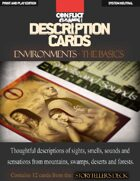 """Description Cards - Storytellers Deck - ENVIRONMENTS CARDS excerpt - (Creative Inspiration for Writers, Storytellers and GMs).: Contains 12 Cards from the """"Description Cards - Storytellers Deck"""""""