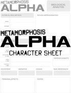 Metamorphosis Alpha RPG - Character Sheet