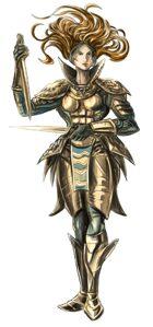 Stock Art: Aasimar Warrior