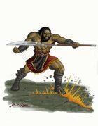 Stock Art: Half-Giant Warrior