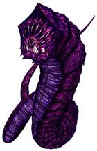Stock Art: Purple Worm