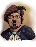 Stock Art Portraits: Human Male Bard
