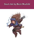 Stock Art: Female Dwarf Wizard